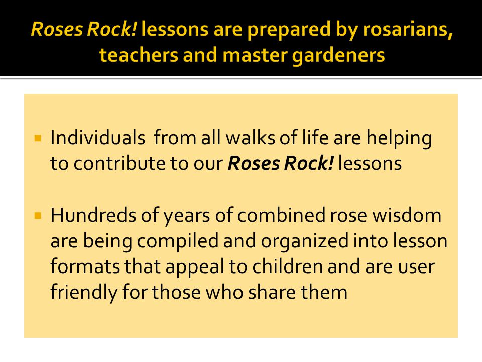 Our Roses Rock.