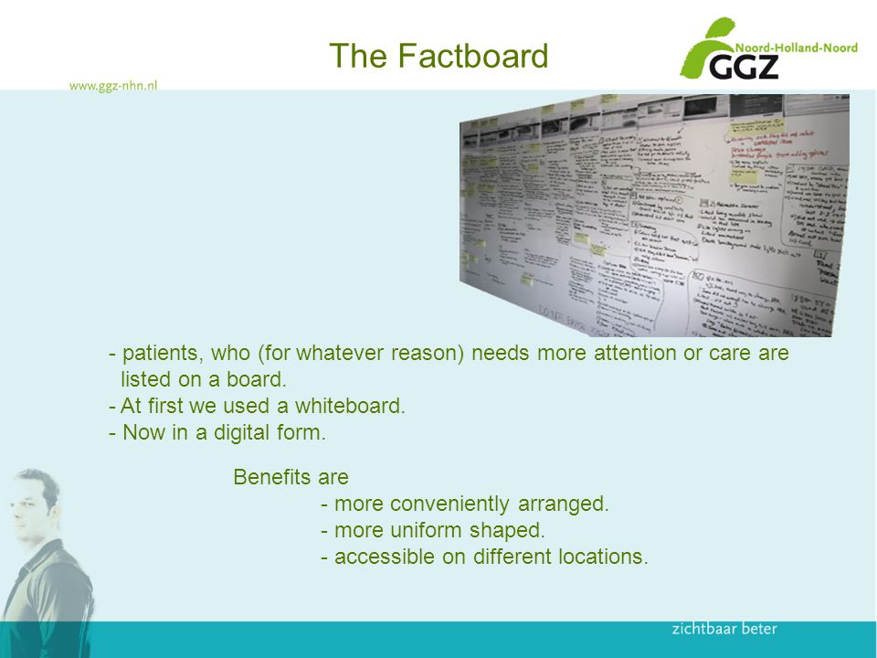 The Factboard Benefits are - more conveniently arranged.