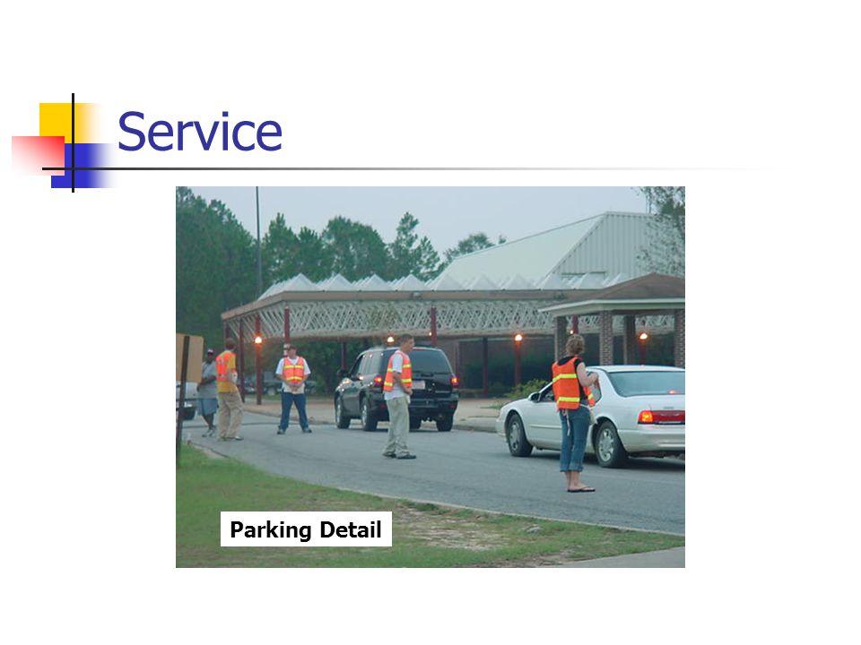 Service Parking Detail