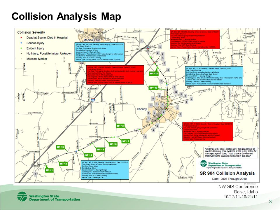 Collision Analysis Map 3 NW GIS Conference Boise, Idaho 10/17/11-10/21/11