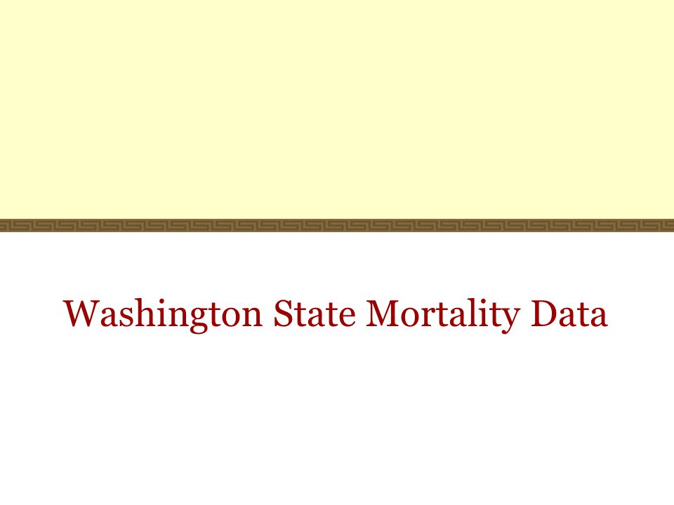 Washington State Mortality Data