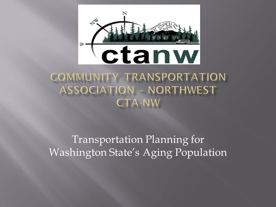 Transportation Planning for Washington State's Aging Population