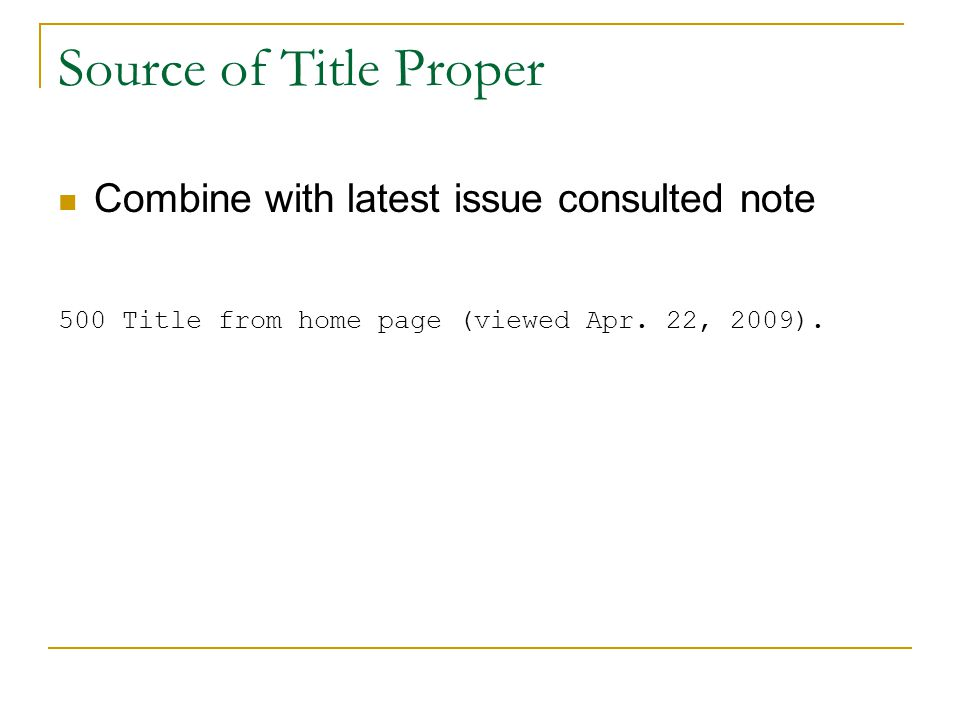 Source of Title Proper Combine with latest issue consulted note 500 Title from home page (viewed Apr.