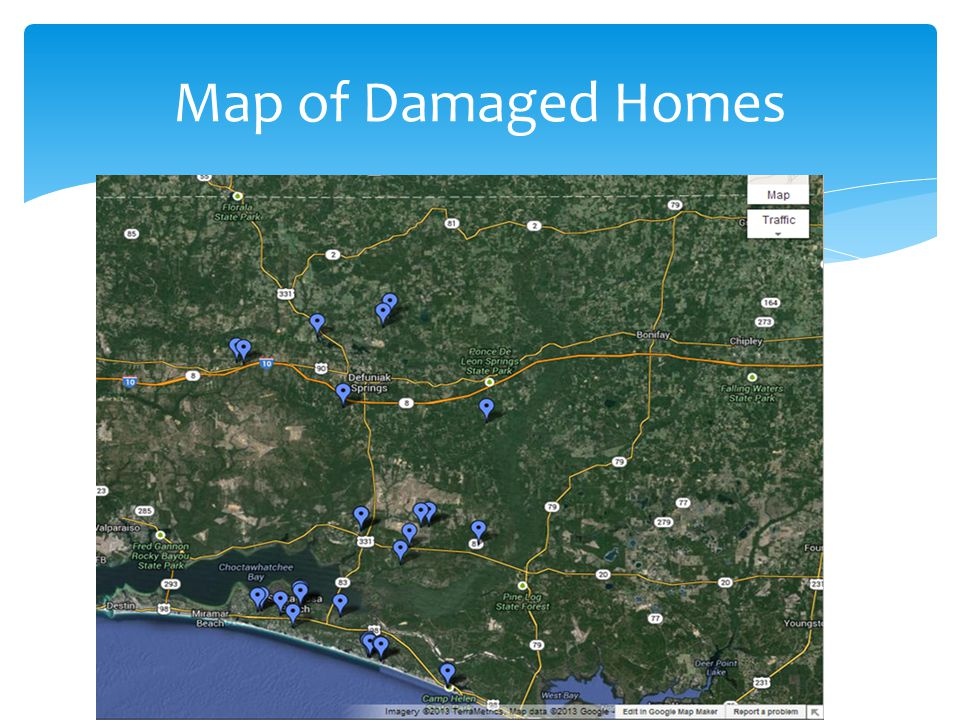 Map of Damaged Homes