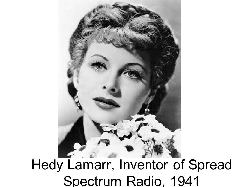 Hedy Lamarr, Inventor of Spread Spectrum Radio, 1941