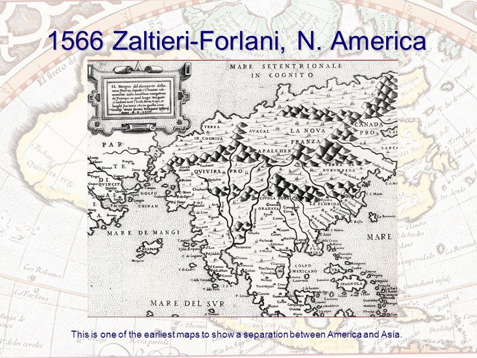 1587 Mercator America or the New Indies by Rumold Mercator