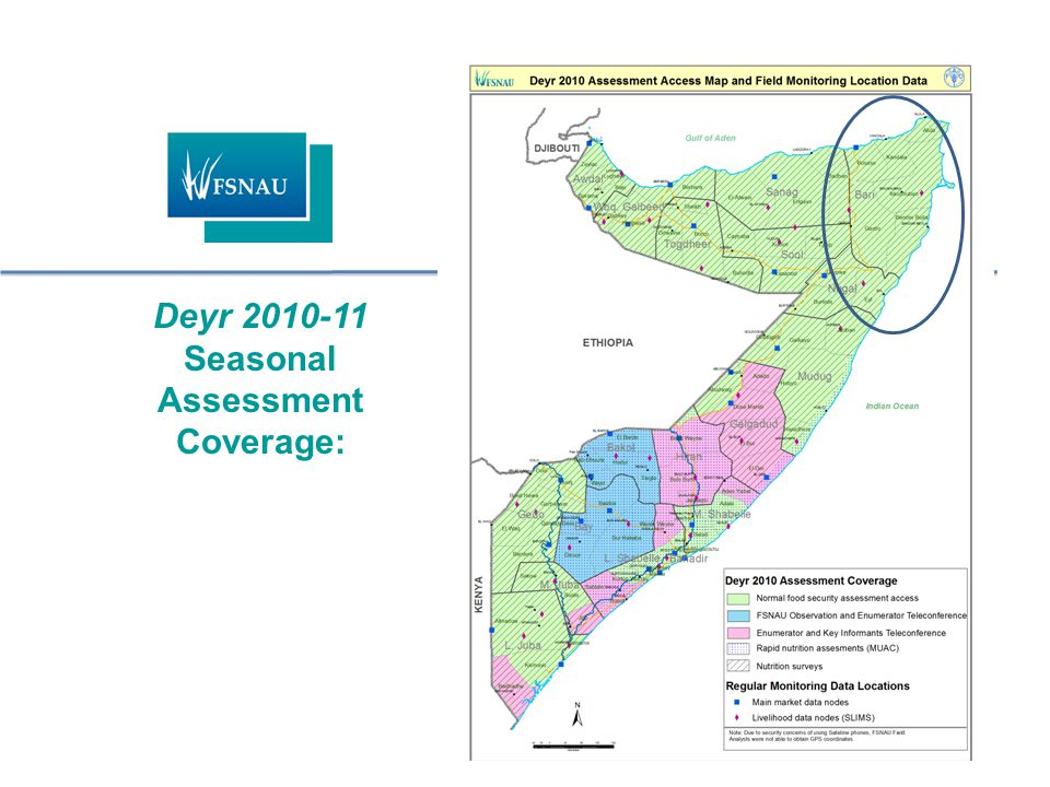 Deyr 2010-11 Seasonal Assessment Coverage: