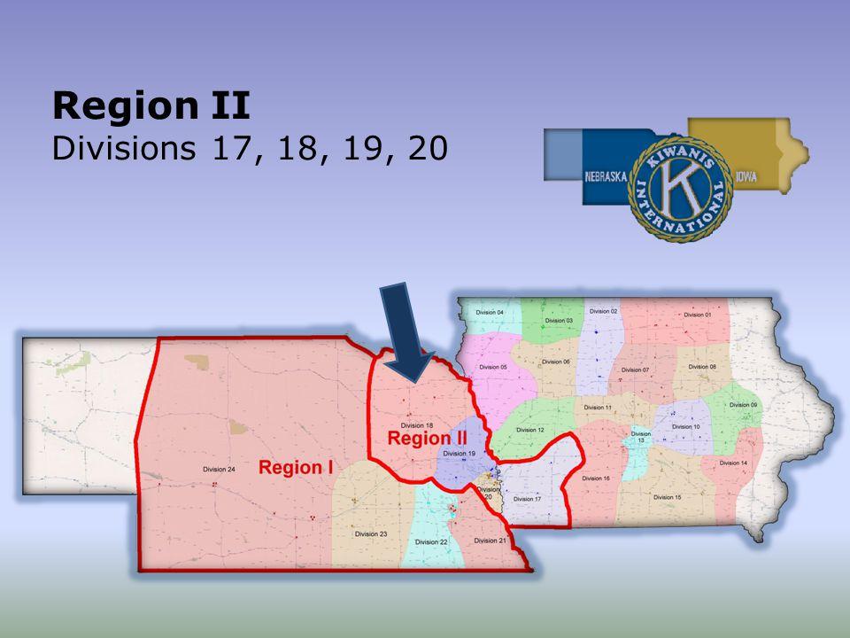 Region II Divisions 17, 18, 19, 20
