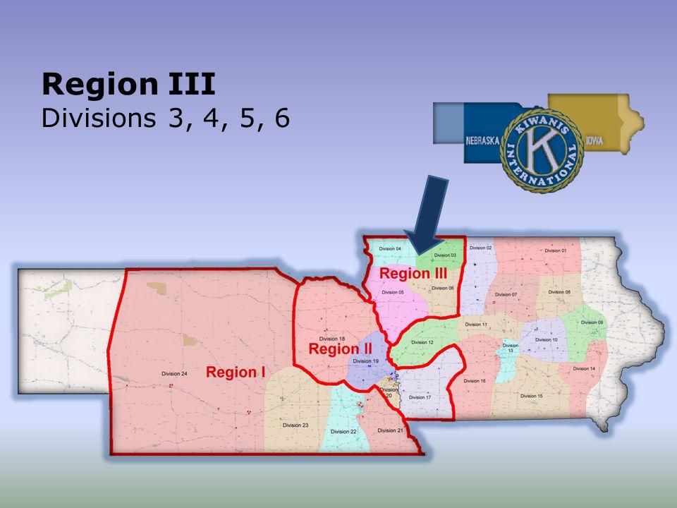 Region III Divisions 3, 4, 5, 6