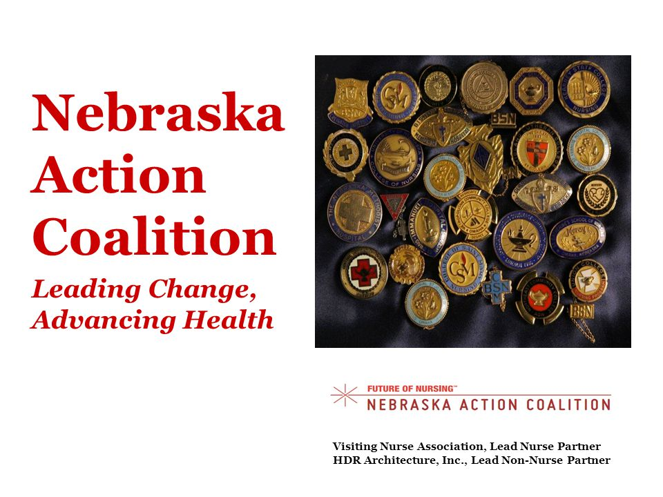 Nebraska Action Coalition Leading Change, Advancing Health Visiting Nurse Association, Lead Nurse Partner HDR Architecture, Inc., Lead Non-Nurse Partner