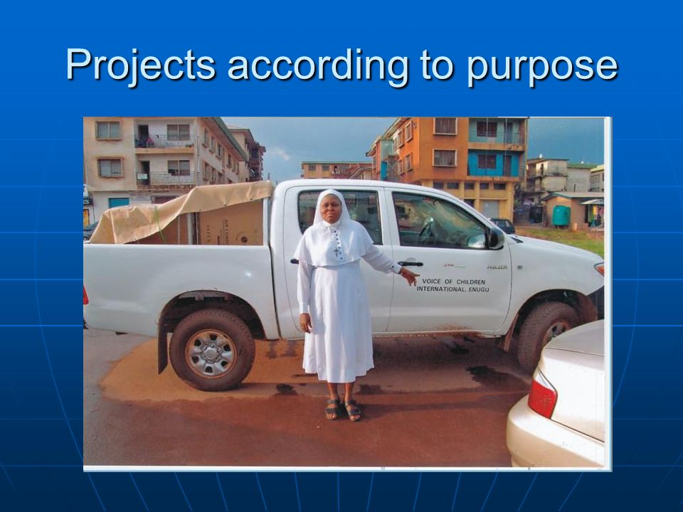 Projects according to purpose