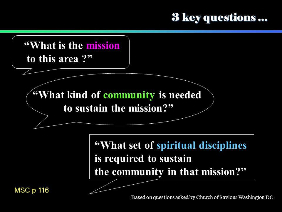 3 key questions...