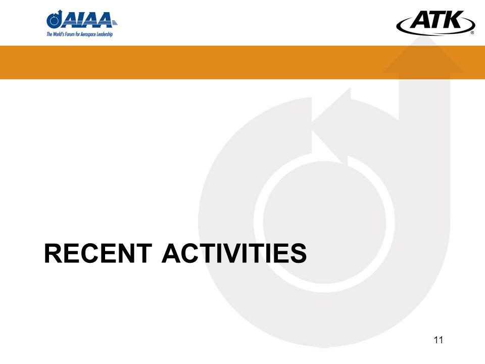 RECENT ACTIVITIES 11