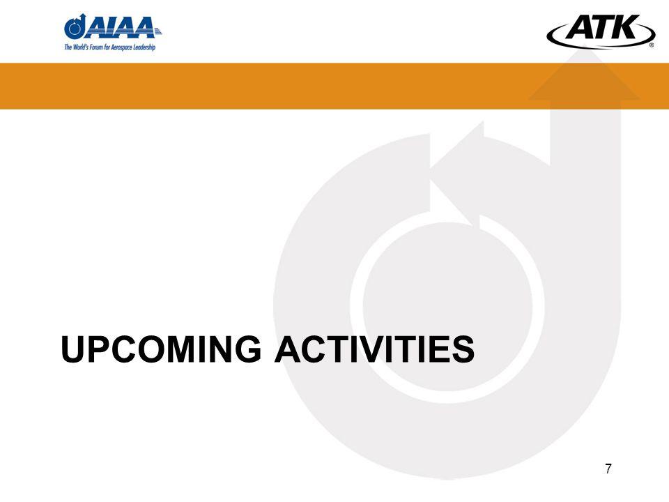 UPCOMING ACTIVITIES 7