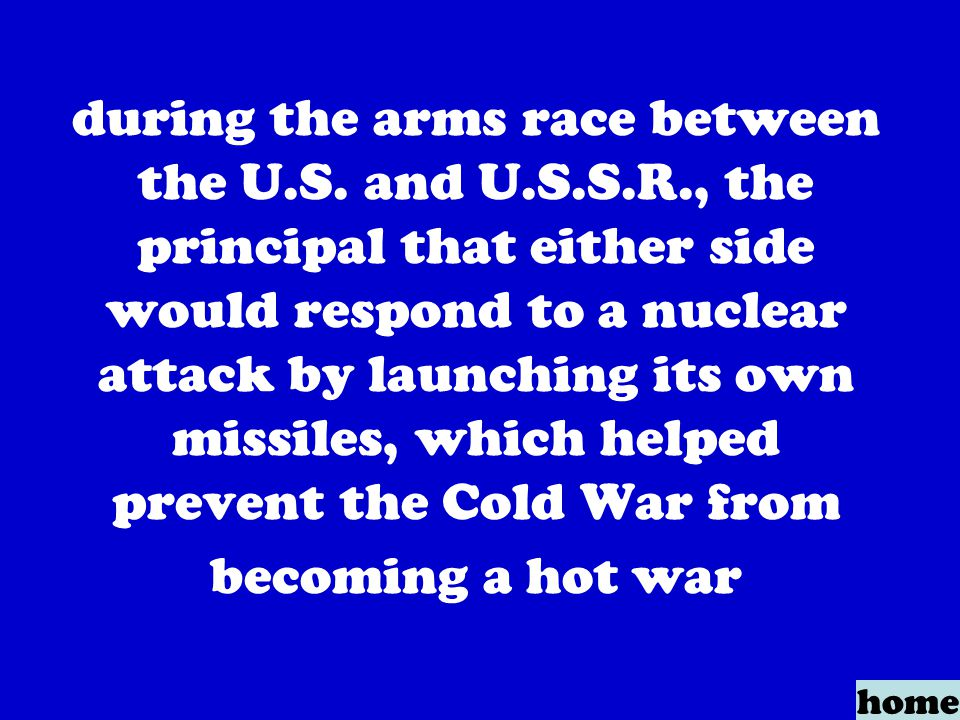 during the arms race between the U.S.