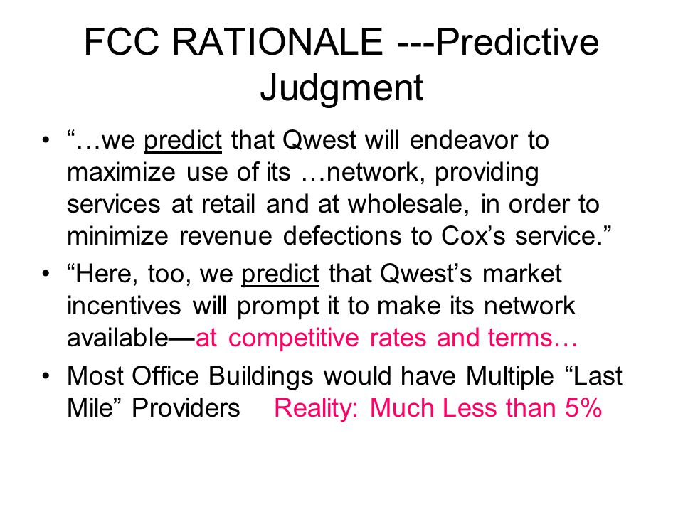 FCC'S NEXT STEP ??.