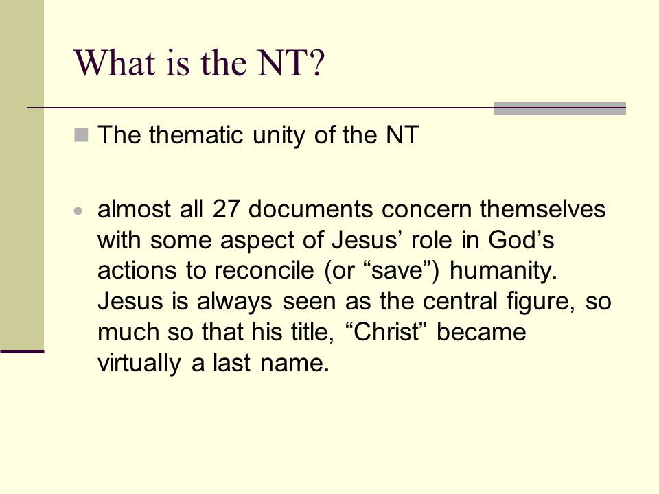 What is the NT.
