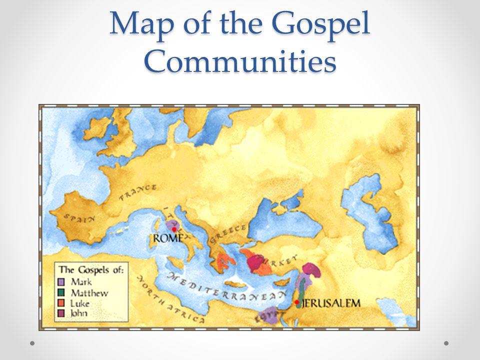 Map of the Gospel Communities