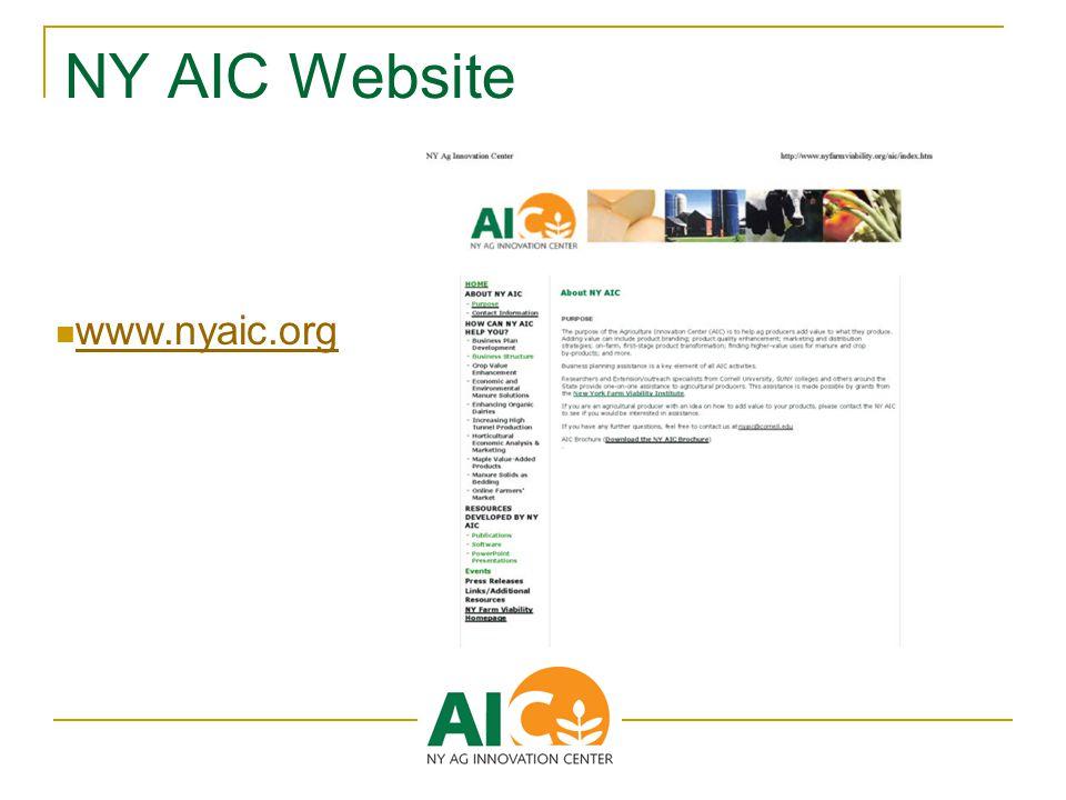 NY AIC Website www.nyaic.org