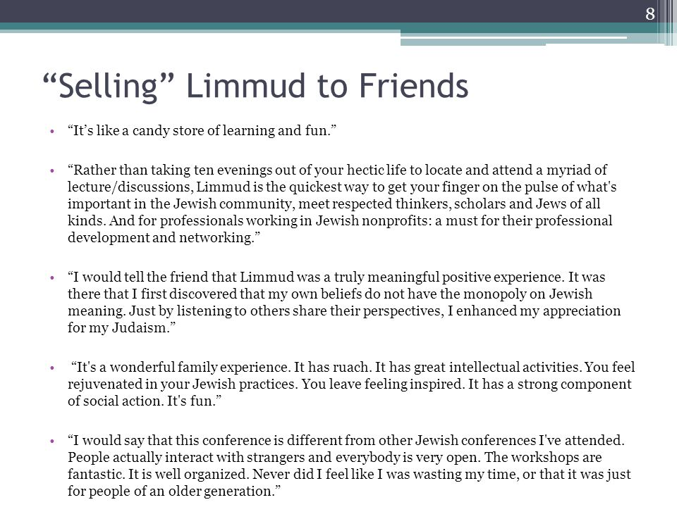 How well did Limmud meet expectations to..9 Q.