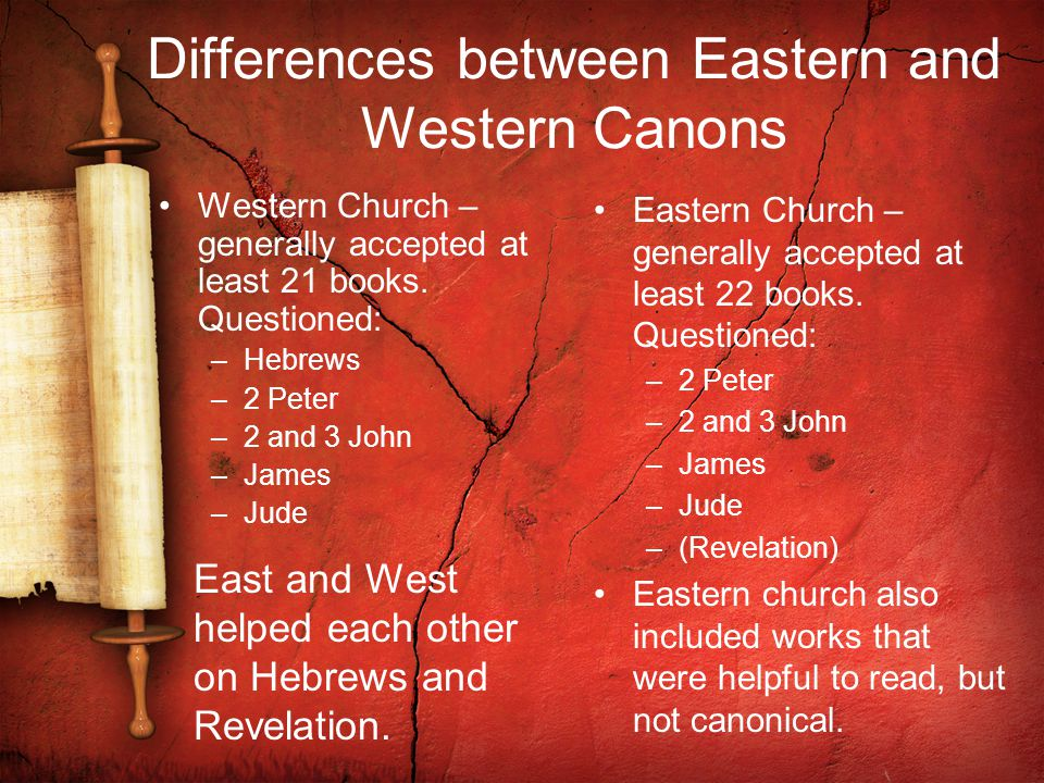 Criteria for Canonicity These come not from explicit statements, but by gleaning principles from the writings of the church fathers.