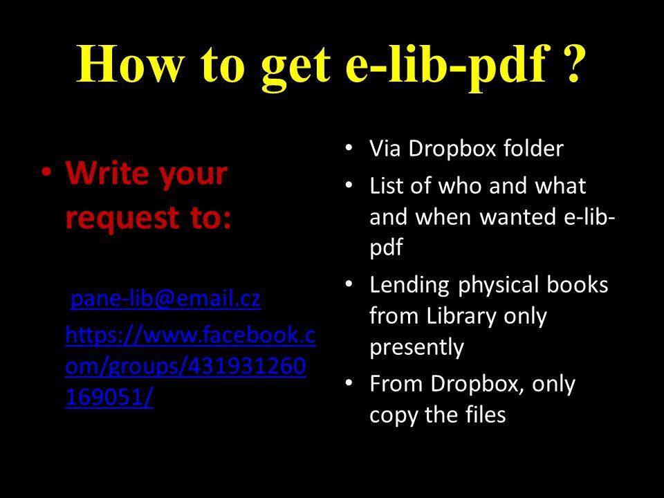 How to get e-lib-pdf .