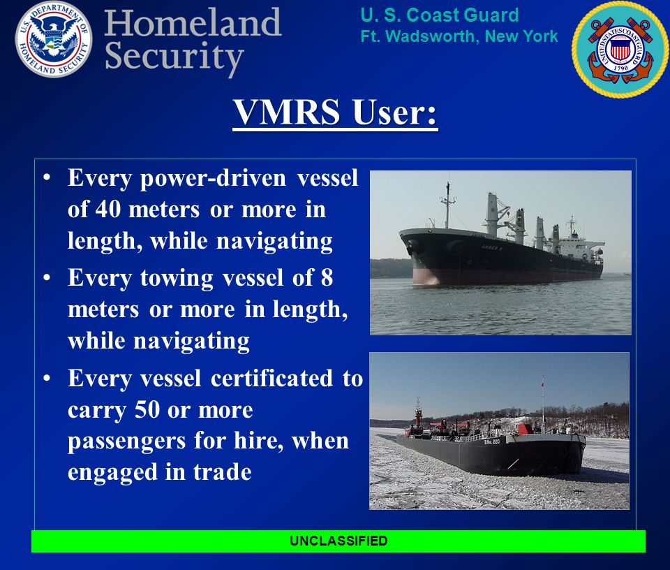 U. S. Coast Guard Ft. Wadsworth, New York VTS Area Of Responsibility (AOR) UNCLASSIFIED Boundaries Raritan River Railroad Bridge Raritan River Railroa