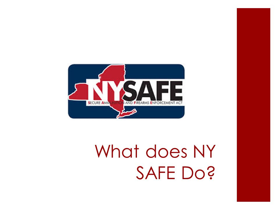 What does NY SAFE Do?