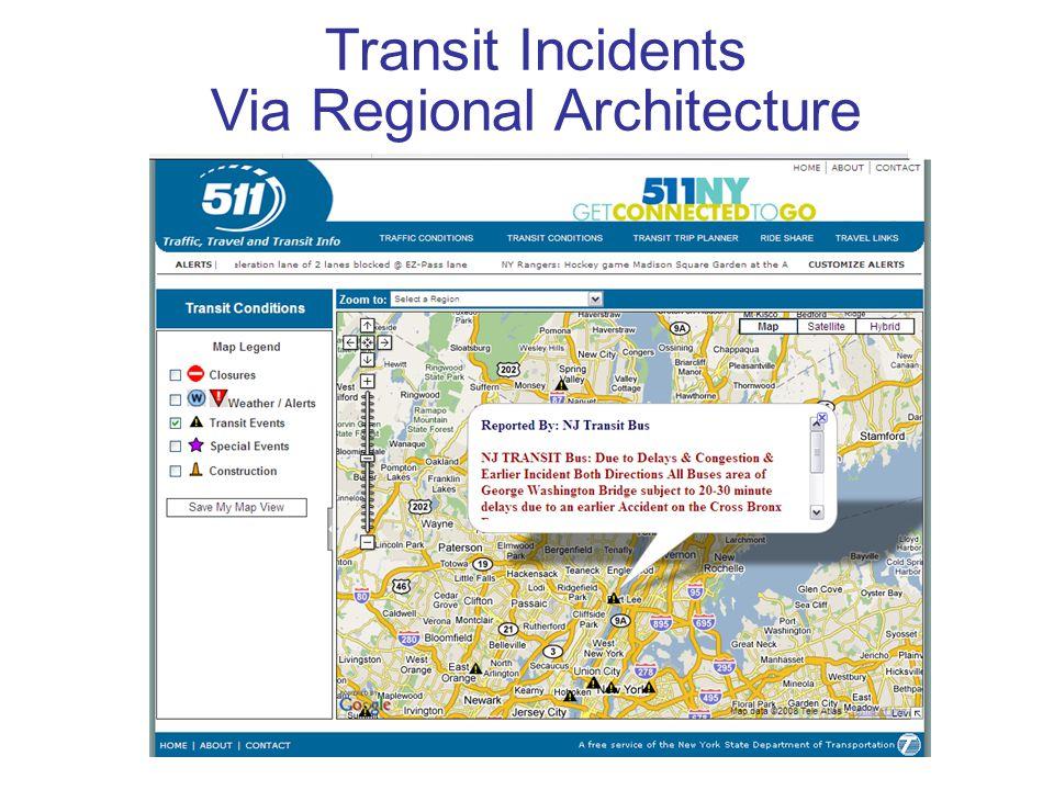 Transit Incidents Via Regional Architecture