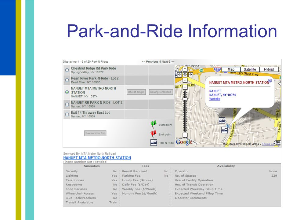 Park-and-Ride Information