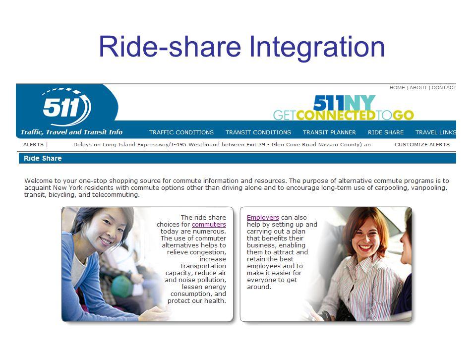 Ride-share Integration