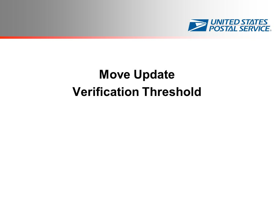 Move Update Verification Threshold