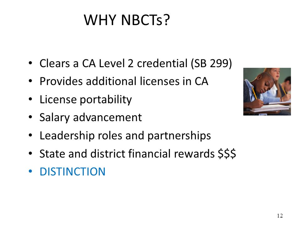 WHY NBCTs.
