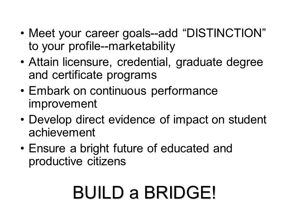 BUILD a BRIDGE.
