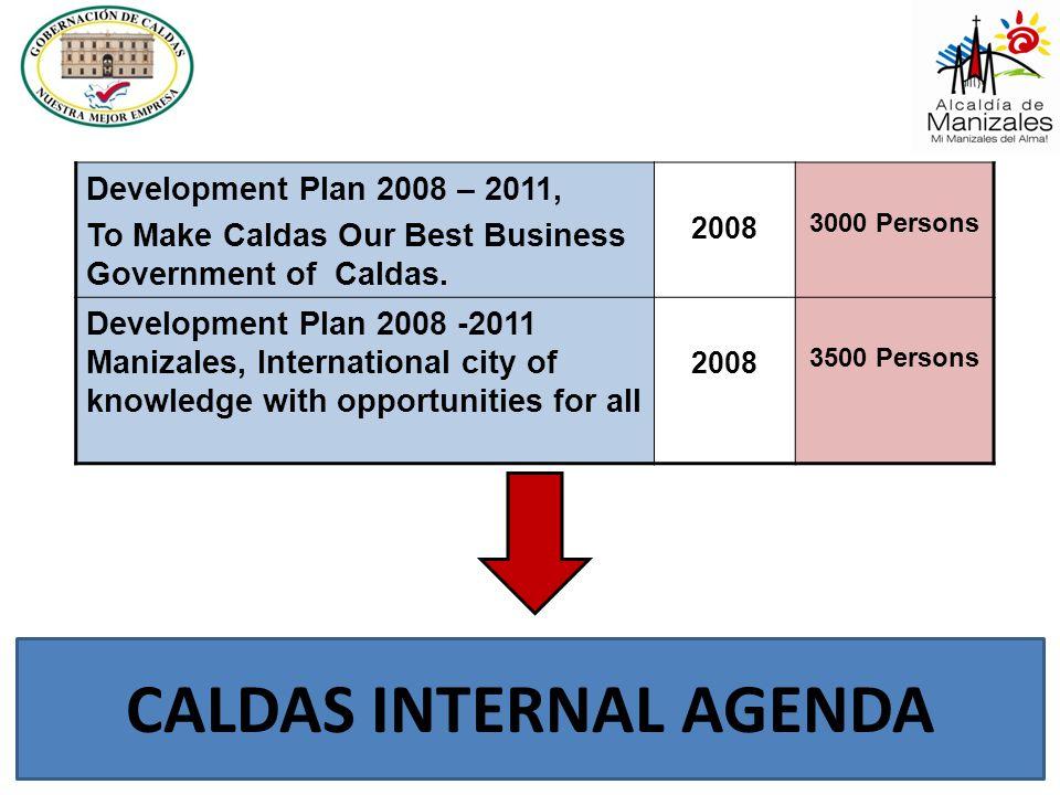 Development Plan 2008 – 2011, To Make Caldas Our Best Business Government of Caldas. 2008 3000 Persons Development Plan 2008 -2011 Manizales, Internat