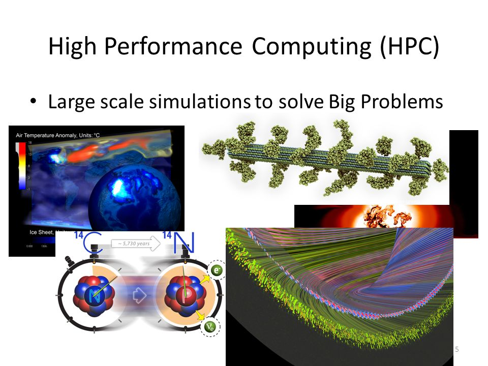 5 High Performance Computing (HPC) Large scale simulations to solve Big Problems