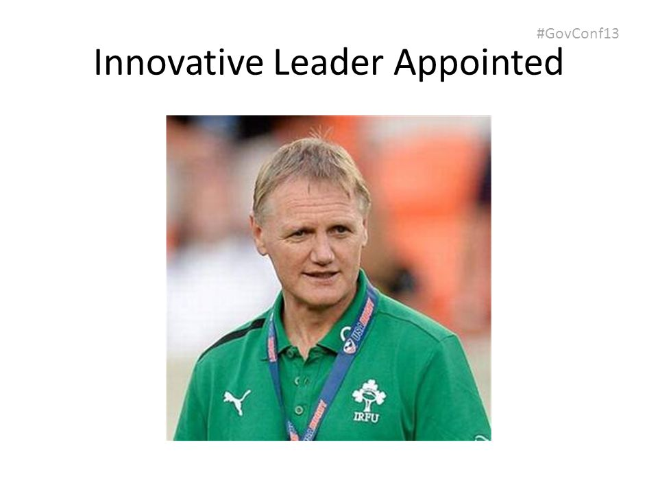 #GovConf13 Innovative Leader Appointed