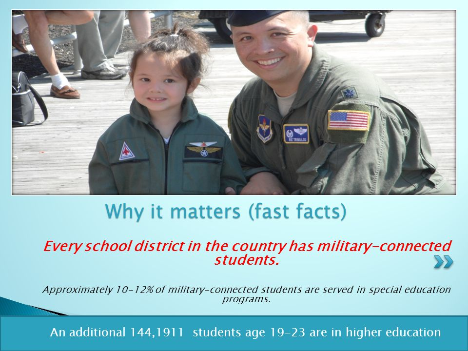 Every school district in the country has military-connected students.