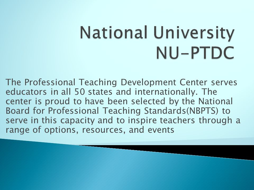 The Professional Teaching Development Center serves educators in all 50 states and internationally.