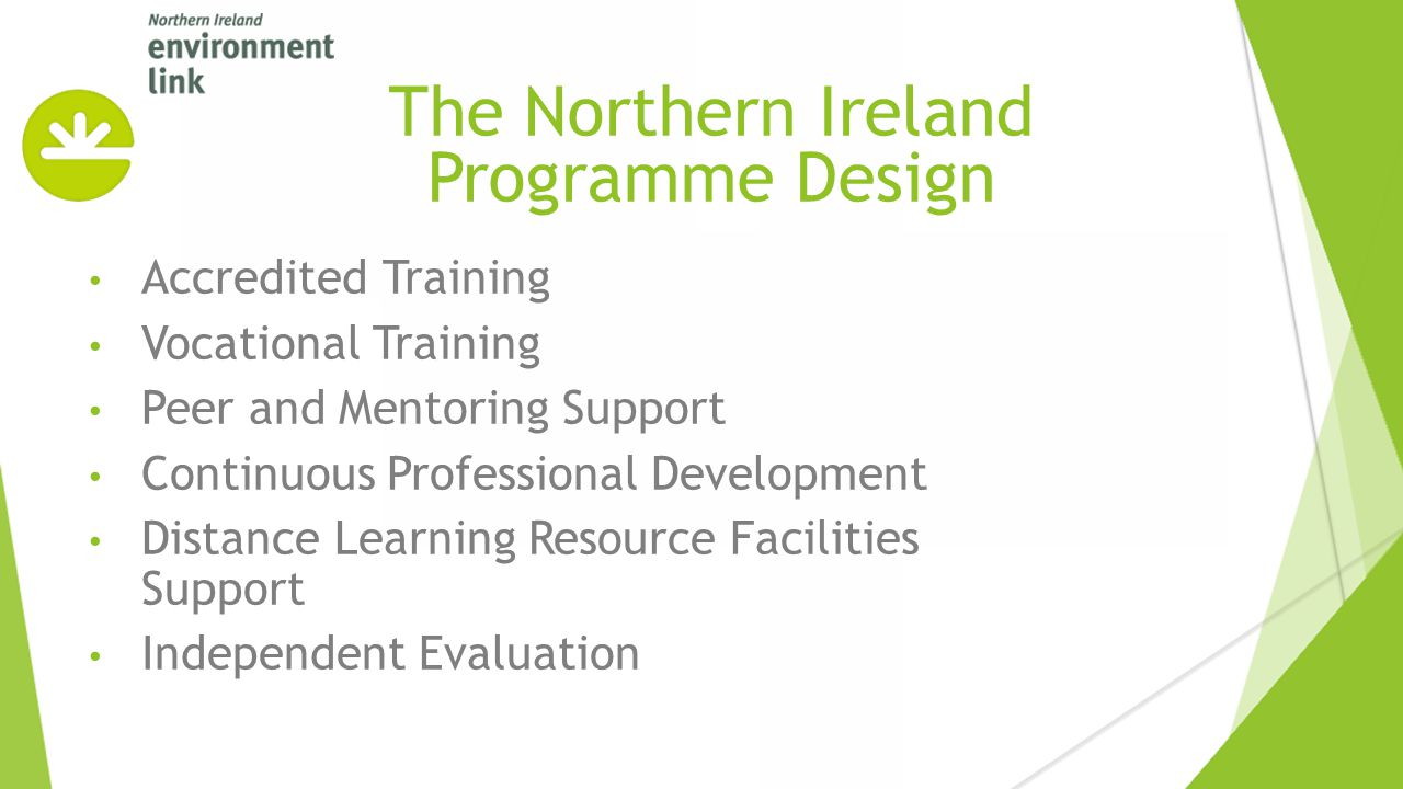 Accredited Training Vocational Training Peer and Mentoring Support Continuous Professional Development Distance Learning Resource Facilities Support I