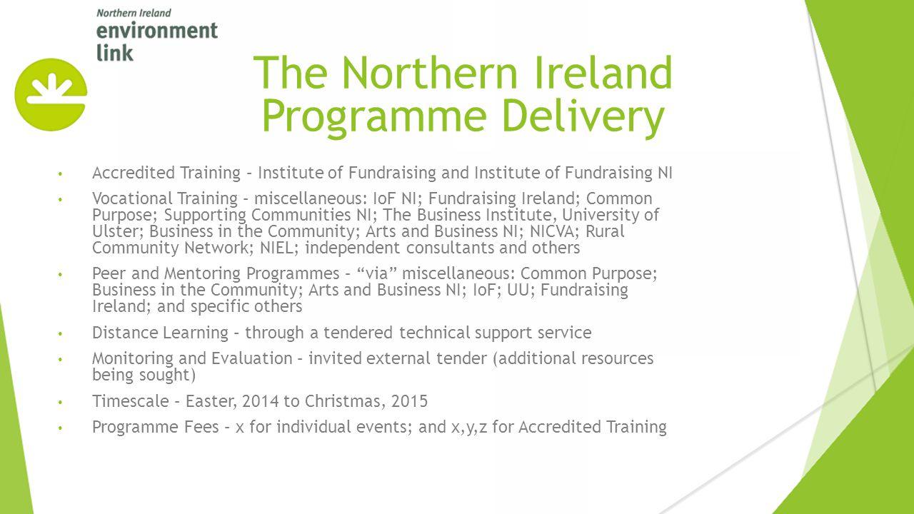 Accredited Training – Institute of Fundraising and Institute of Fundraising NI Vocational Training – miscellaneous: IoF NI; Fundraising Ireland; Commo