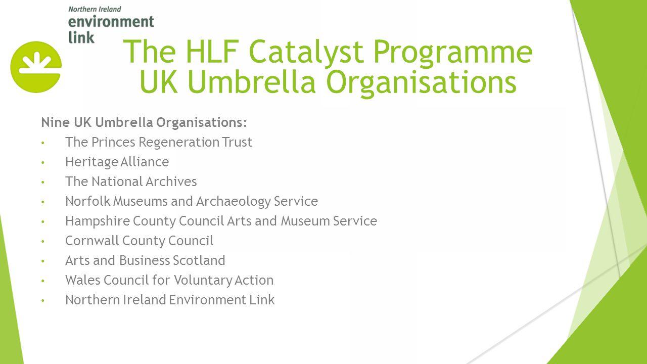 Nine UK Umbrella Organisations: The Princes Regeneration Trust Heritage Alliance The National Archives Norfolk Museums and Archaeology Service Hampshi