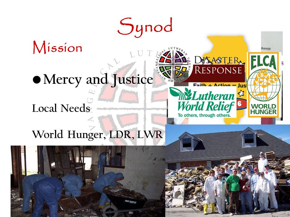Synod Mission Mercy and Justice Local Needs World Hunger, LDR, LWR LSSI Lutheran Advocacy