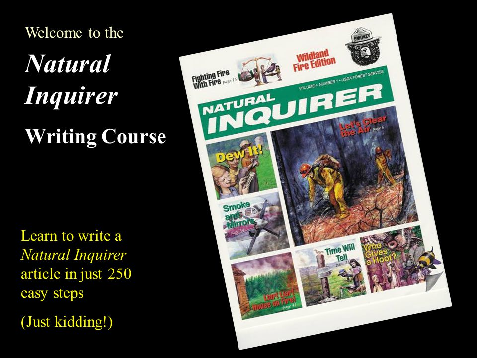 The Natural Inquirer is a science education resource for middle school students.