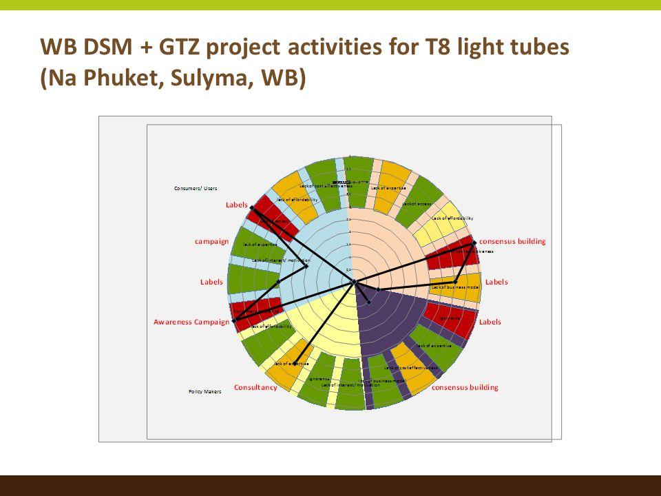 WB DSM + GTZ project activities for T8 light tubes (Na Phuket, Sulyma, WB)