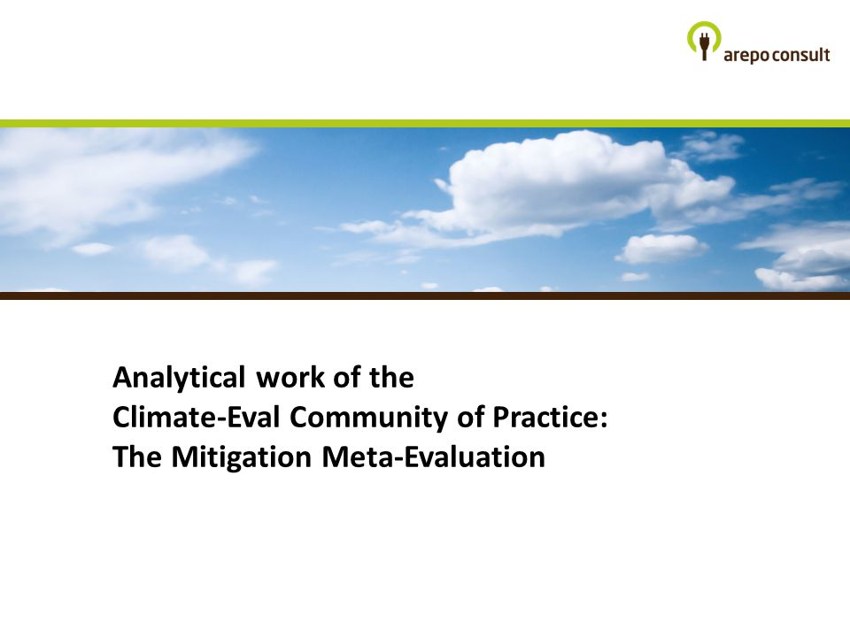 Analytical work of the Climate-Eval Community of Practice: The Mitigation Meta-Evaluation