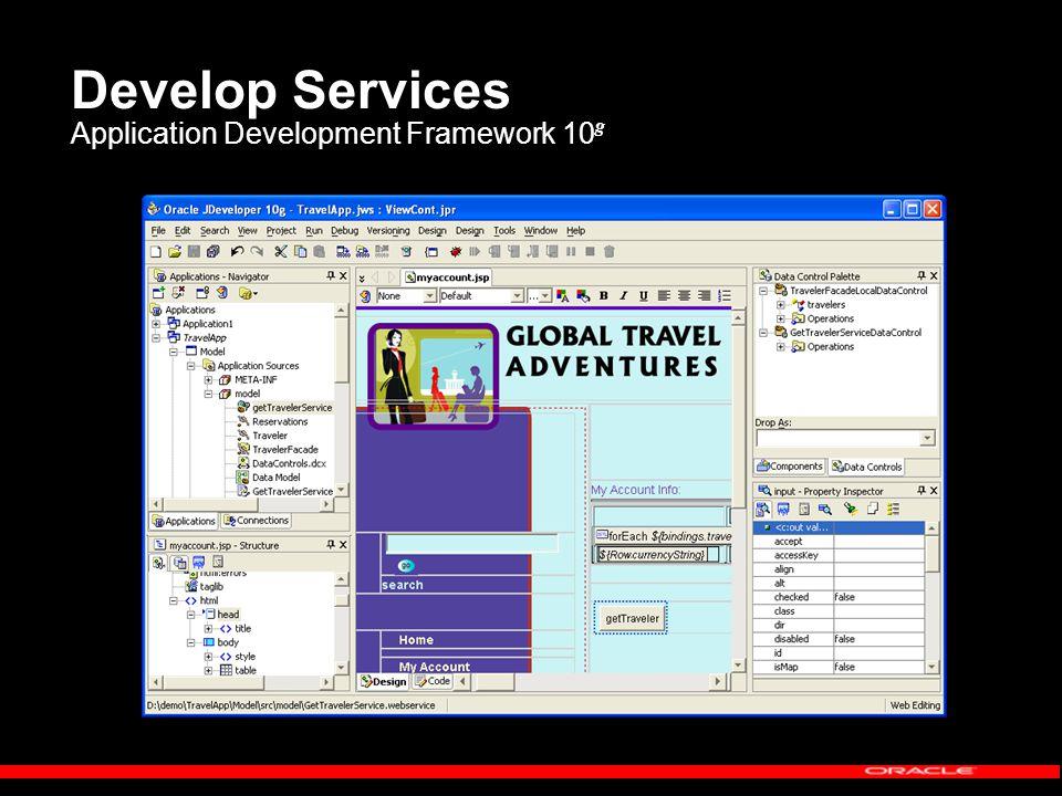 Develop Services Application Development Framework 10 g