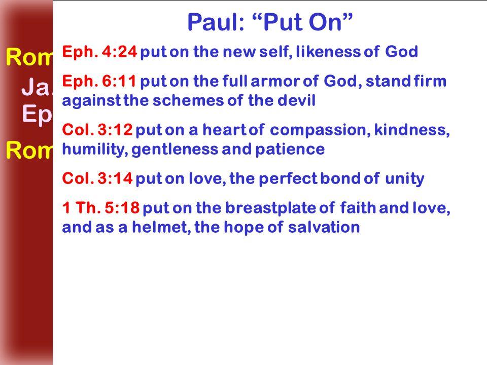 Make No Provision for the Flesh Rom. 13:14 make no provision, lusts Ja.