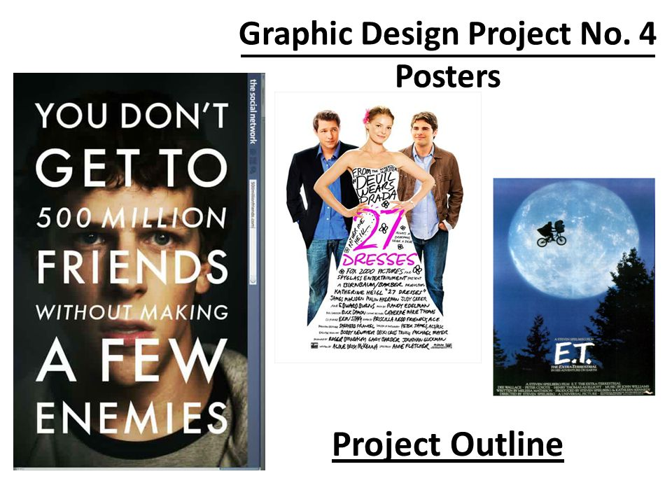 Project Requirements Each poster needs the following: – Picture/Graphic – Text that advertises – Specific Information that applies to the poster type (See reference your layout example.) Original Graphics and Pictures Correct Spelling and Grammar