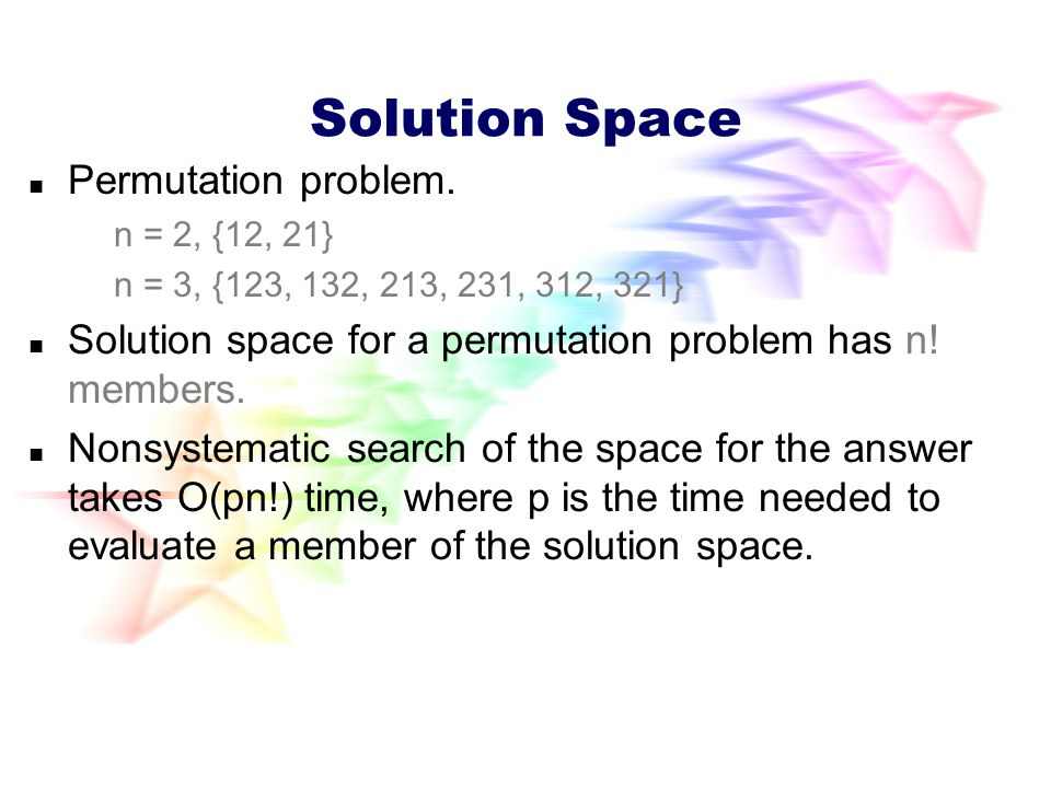 Permutation Problems Solution requires you to find a permutation of n elements.